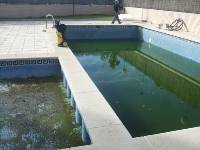 Antes de limpiar la piscina